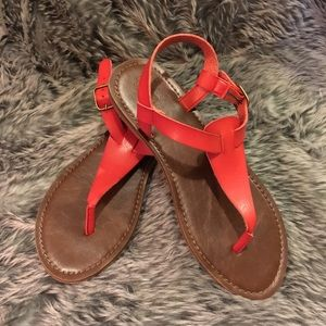 NWOT Red Mossimo Thong Sandals